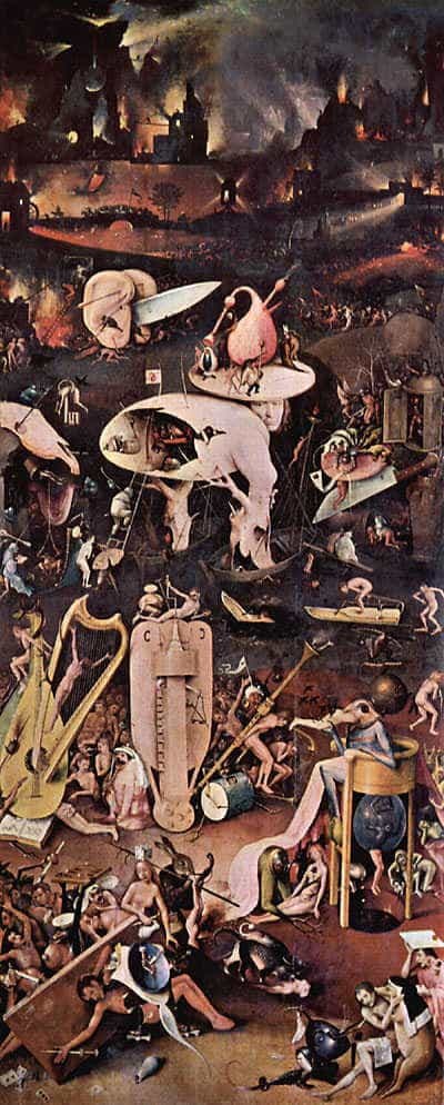 Hell, by Hieronymus Bosch (1450-1516).