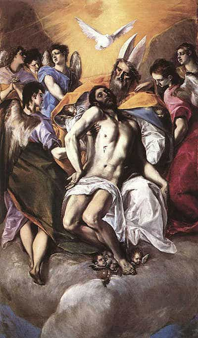 The Holy Trinity, by El Greco 1577.