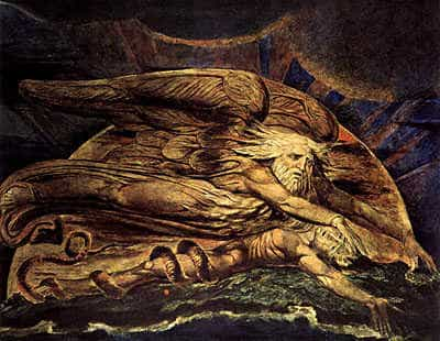 Life Energy Beliefs. God gives life to Adam, by William Blake.