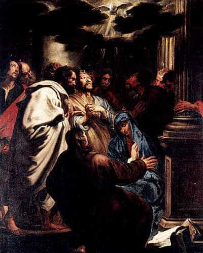 The Pentecost. Painting by Anthony van Dyck, 1618.