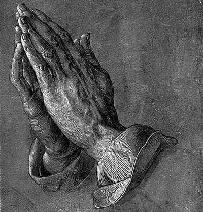 Praying hands, by Albrecht Dürer (1471-1528).