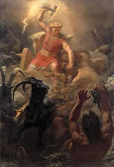 Thor. Painting by M�rten Eskil Winge (1825-1896).